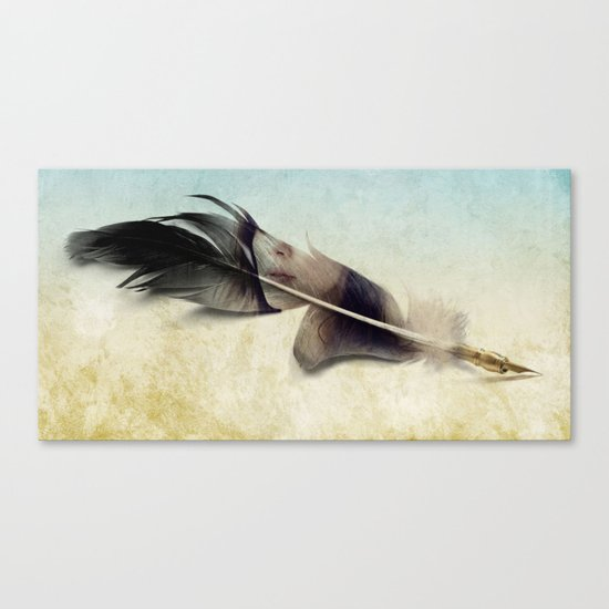 Memory of a quill Canvas Print