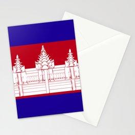 Cambodia flag emblem Stationery Cards