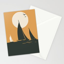 White sail Stationery Cards