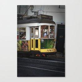 Tram. Lisbon, Portugal. Canvas Print