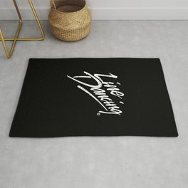 LINE DANCING HAND WRITTEN USED LOOK Rug