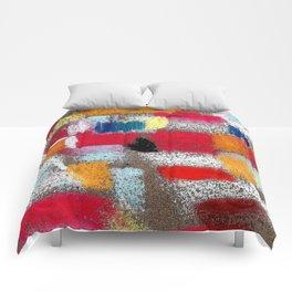 Multicolor grey Comforters