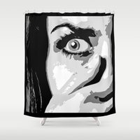 anxiety Shower Curtains featuring Anxiety by Enrico Ponzoni