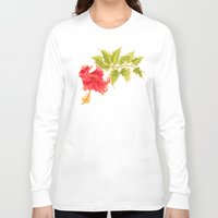 hibiscus Long Sleeve T-shirts featuring Hibiscus by Eugeniam