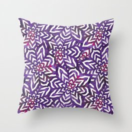 I don't need to improve - Purple and pink Throw Pillow
