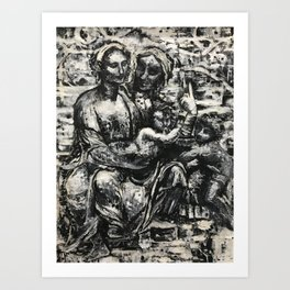 The Virgin and Child with St. Anne the Baptist Art Print