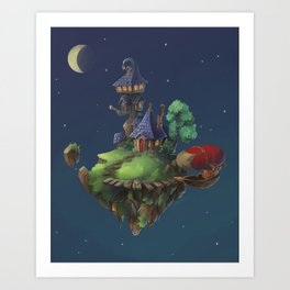 The Floating Island Art Print