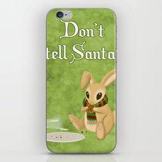 Bunny Santa Card iPhone Skin