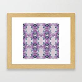 Arabidopsis flower stem microscopy pattern pink Framed Art Print