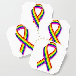 LGBT Awareness Ribbon Coaster