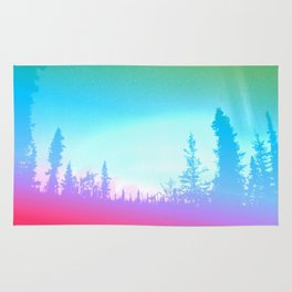 Bright Colorful Forest Rug