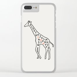 I love you as high as I can reach Clear iPhone Case
