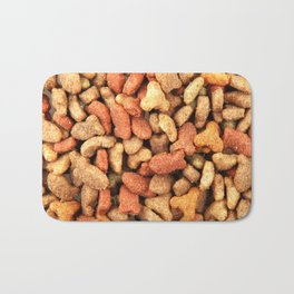 Close-Up Of Dried Pet Food Background Bath Mat