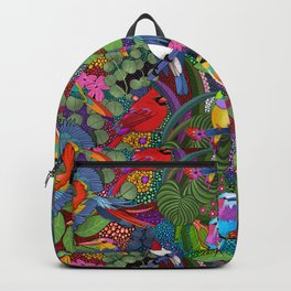 Colorful Birds// Bright Jungle Backpack