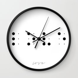 Love in Braille Wall Clock