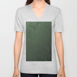 Velvet in Green Unisex V-Neck