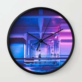 Glitchy Dreams Of You Wall Clock