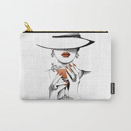 Lady In The Hat Carry-All Pouch