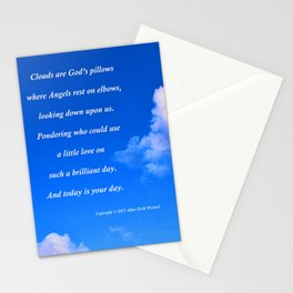"""Clouds #57"" with poem: God's Pillows Stationery Cards"