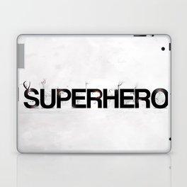 Superhero - gray wallpapers Laptop & iPad Skin