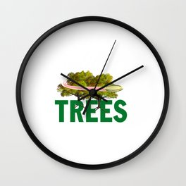 Splittin' Trees Funny Disc Golf Wall Clock