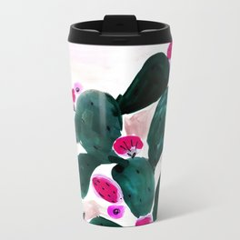 Cactus Prickly Pear Metal Travel Mug