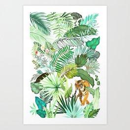 Jungle Tiger 03 Art Print