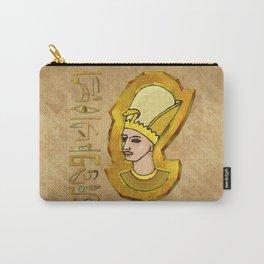 Pharaoh Hieroglyphics Egyptian Folk Art Carry-All Pouch