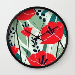 poppy seed Wall Clock