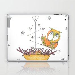 MidCentury Modern Whimsical Owl & Satellite Nest Laptop & iPad Skin