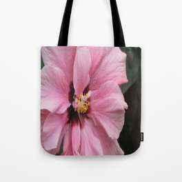 Pink Ibiscus flower. Tote Bag