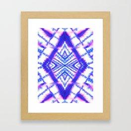 Dye Diamond Iridescent Blue Framed Art Print