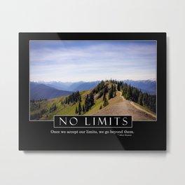 No Limits - Motivation Series Metal Print