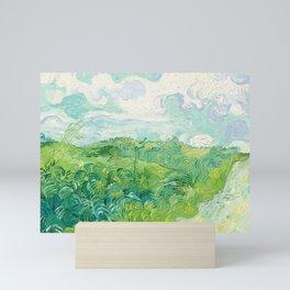 Green Wheat Fields - Auvers, by Vincent van Gogh Mini Art Print