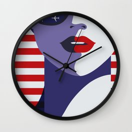 American Stewardess Wall Clock