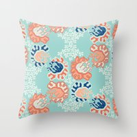 nouveau Throw Pillows featuring NOUVEAU by Sarah Doherty