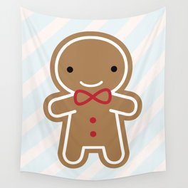 Cookie Cute Gingerbread Man Wall Tapestry