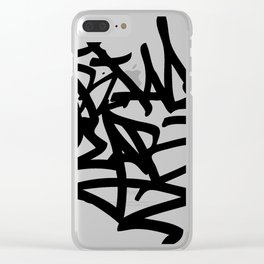 Grime Lab Graffiti Clear iPhone Case
