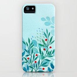 blue-green iPhone Case
