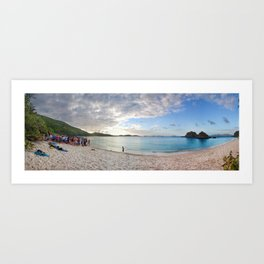 trunk bay Art Print