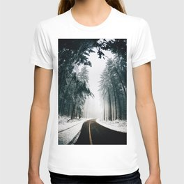 Standing in snow T-shirt