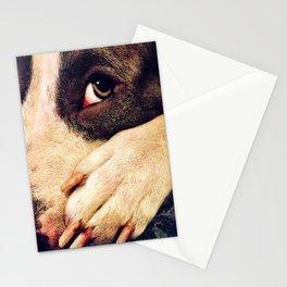 Pitbull profile Stationery Cards