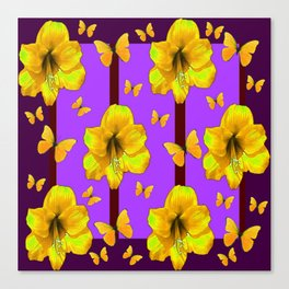 FOR THE LOVE OF BUTTERFLIES PURPLE ART Canvas Print
