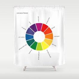 A Visual Study of Sherlock Shower Curtain