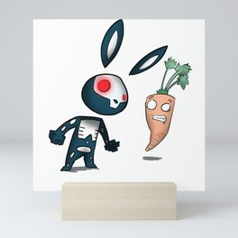 Skull Rabbit  Mini Art Print