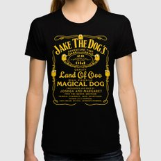 Jake the dog's SMALL Womens Fitted Tee Black