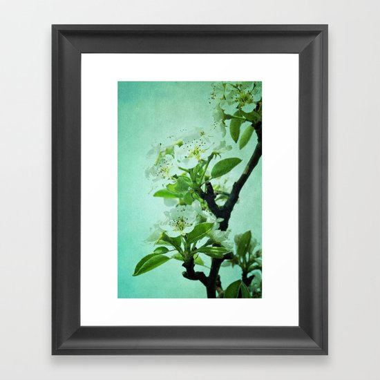 under the pear tree Framed Art Print