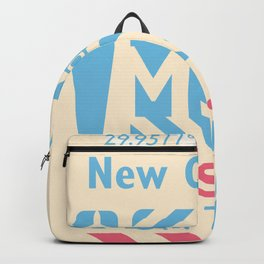 MSY New Orleans airport code design 150921 Backpack