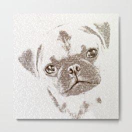 The Intellectual Pug Metal Print