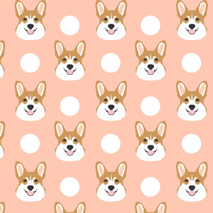 Corgi polka dots peach blush pastel pink coral welsh corgi iphone case for dog lover gifts for dogs Leggings